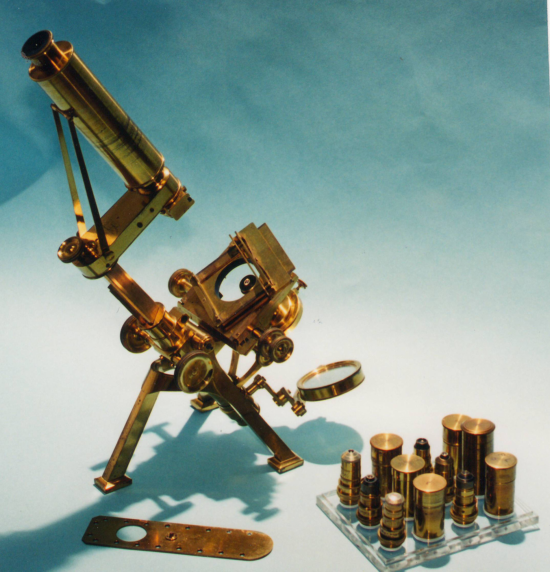 Powell and Lealand Improved First Class Microscope of  1856