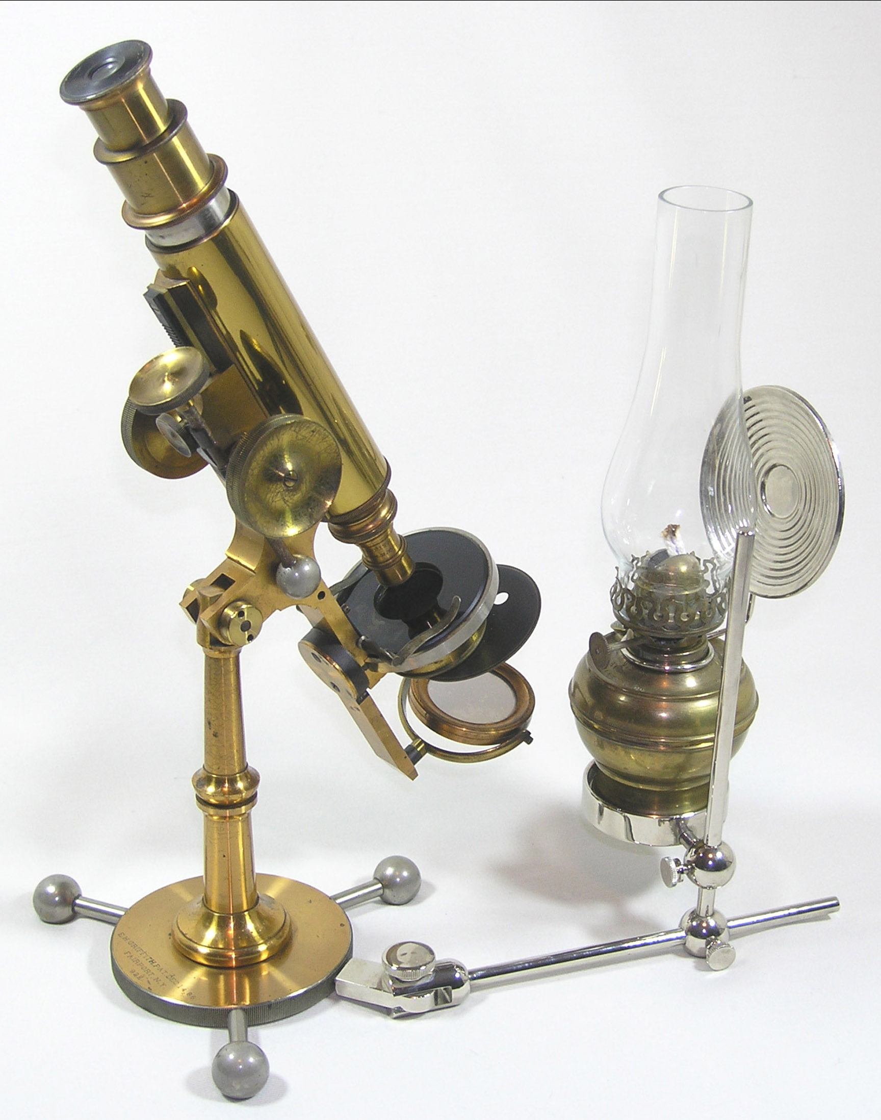 Improved Griffith Club microscope with original lamp