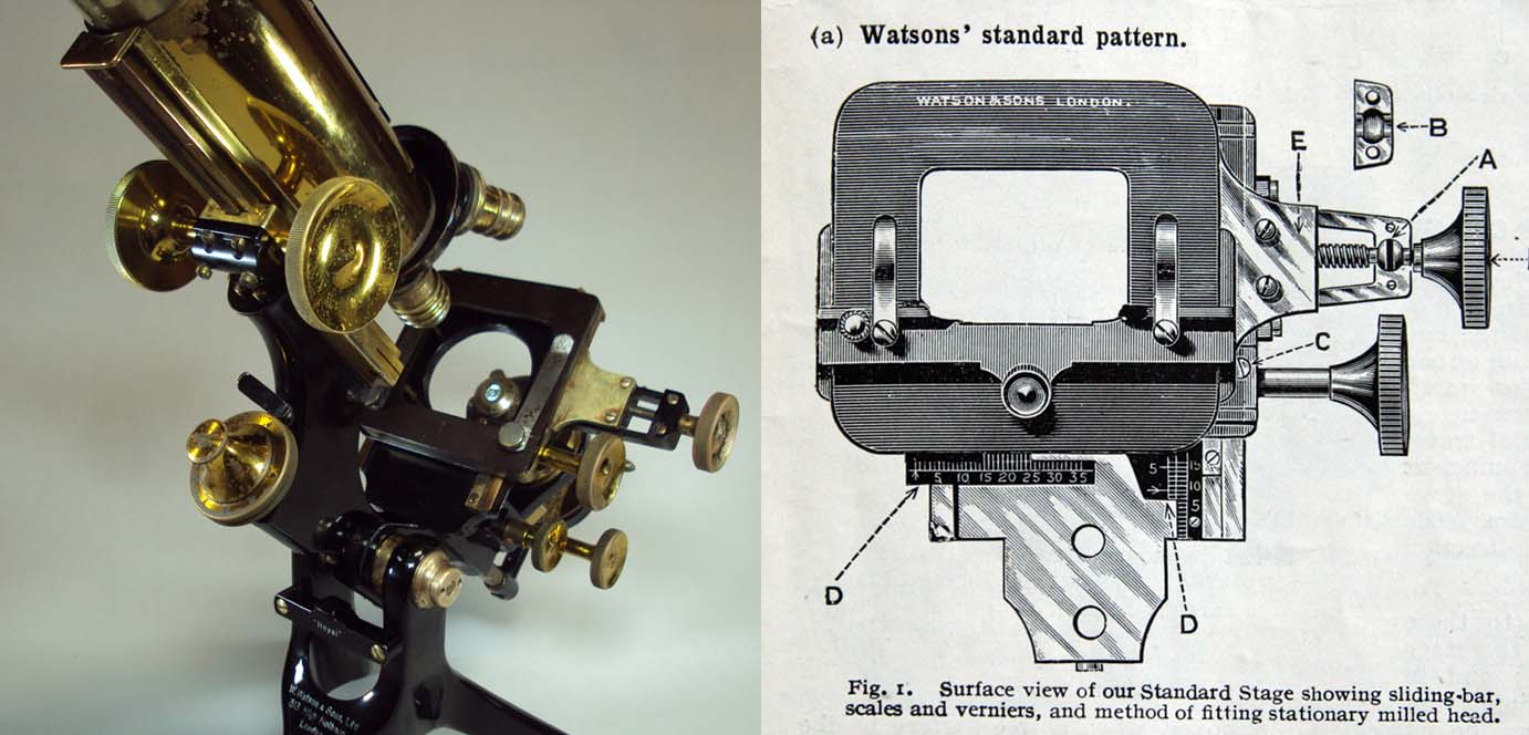 Royal Microscope Next to its Engraving