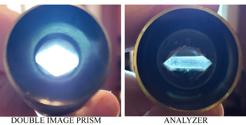double image prism compared to analyzer